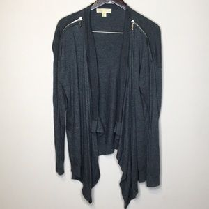 MICHAEL Michael Kors Cardigan Sweater LG Ziper